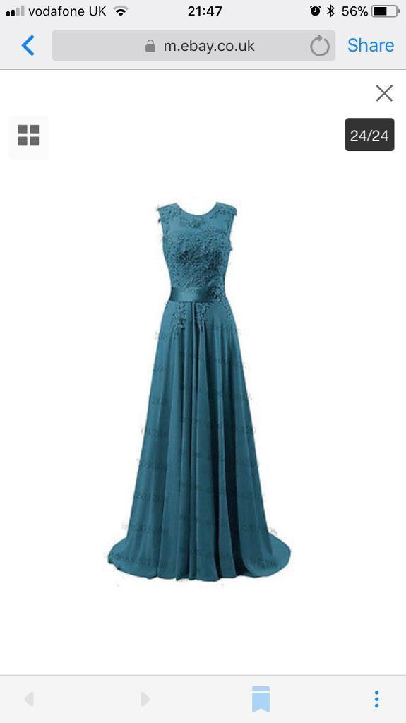 Teal Prom Dress / Evening Dress Size 8 - Brand new, Never worm | in ...
