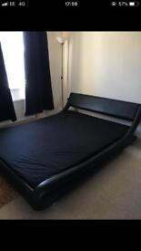 King size bed with memory foam mattress Need gone today!