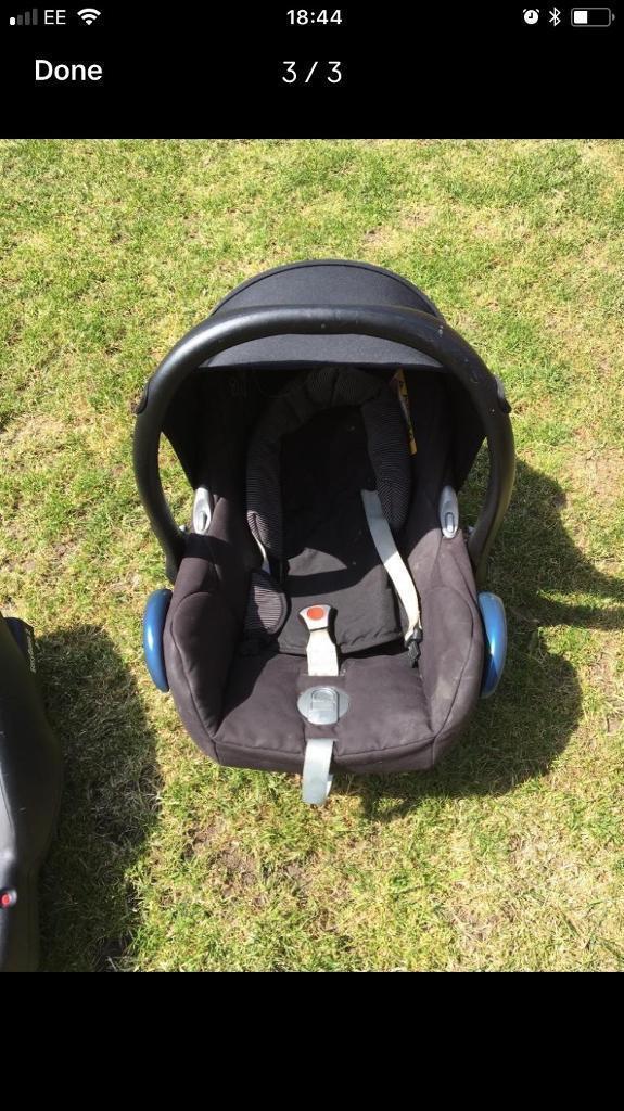 Car seat and base maxi cosi