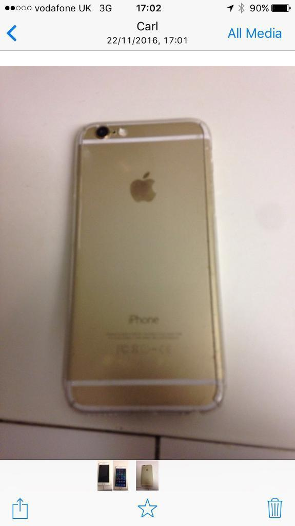 iPhone 6 128gbin Sheffield, South YorkshireGumtree - iPhone 6 in gold 128GB in very good condition iPhone 6 in gold 128Gb always had screen protector on front and on bk as well unlocked to Vodafone and it come with apple warrtey in the top group some come with an extra 2 year warranty