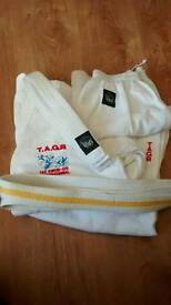 Taekwando adult suit and two ties