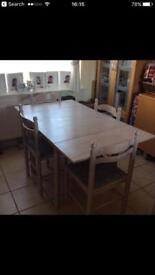 Table and 6 chairs £40