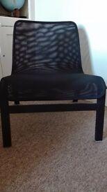 Black lightweight armchair