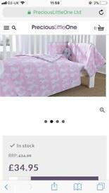 Great condition cot bed set