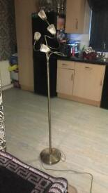 Gold free standing lamp like new