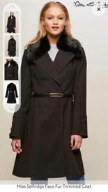 Ladies Miss Selfridge Coat Size 8 BNWOT