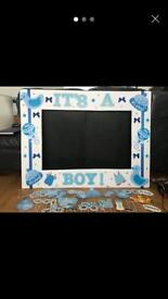 It's a Boy! Photo Booth Frame with Props Perfect for a Baby Shower