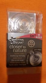 Tommee Tippee Closer to Nature Teat, brand new, thick liquid