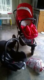 Mothercare MY 3 Travel System (Red)