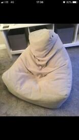 Dunelm grey bean bag