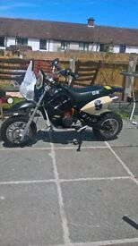 dr 50cc dirt bike scrambler
