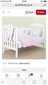 John Lewis Cot Bumper