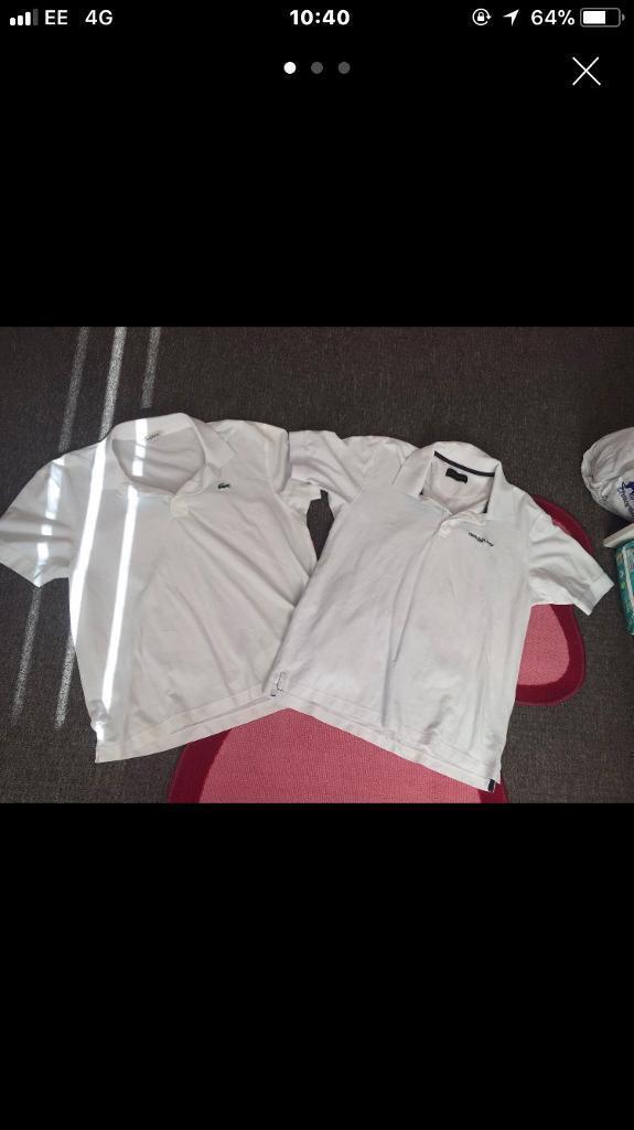 2 designer polo shirts large