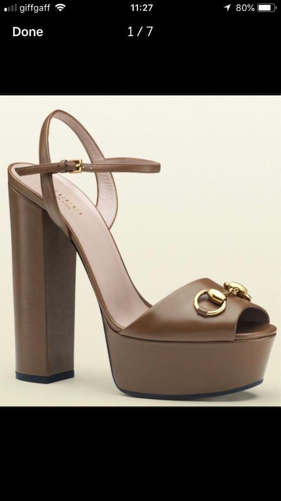 e5d769540579 100% authentic Gucci Horsebite heels platform sandals 4 YSL Dior LV Chanel  CL Zara