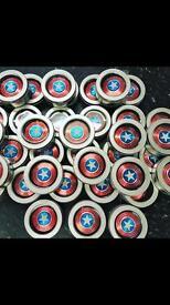 Wholesale 50 Captain America spinner