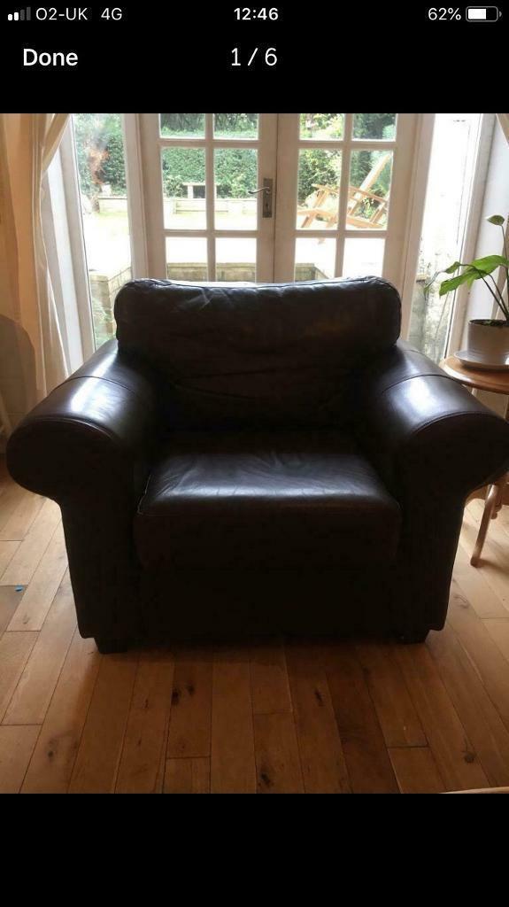Ikea Leather Armchair In Hammersmith London Gumtree
