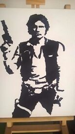 Hand Painted Star Wars Canvasses