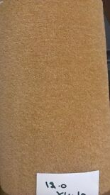 Newcarpet colour is gold size is 12ft x 4 ft 10 ins £12