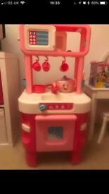 Girls pink ELC pink cooker
