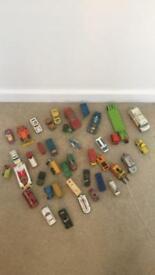 Vintage toy car lot 30+ dinky lesney matchbox etc