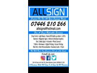 AllSign for All your Signage Needs...Get In Touch!