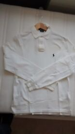POLO RALPH LAUREN LONG SLEEVE TOP. 100% GENUINE. SIZE = MEDIUM (SLIM FIT). JUST LIKE NEW.