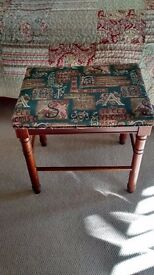 Fabric covered stool