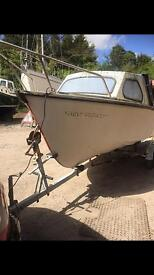 16ft fishing boat and snipe trailer