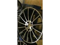 Mercedes c63 style twist alloy wheels 5x112 a class c class AMG