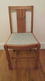 7 Solid Oak Dining Chairs £100 the lot
