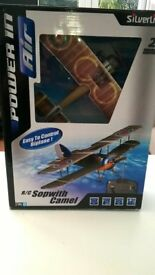 Silverlit Radio Controlled Sopwith Camel Biplane, Still in its box with instructions.