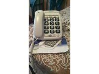 white big button phone