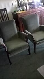 vintage parker knoll chairs