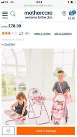 Mothercare cupcake pram collection