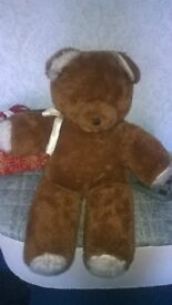 Huge Big Brown Teddy 1980s vintage Collect Stockport