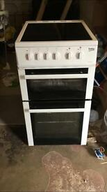 Beko fan assisted oven with ceramic hob