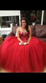 Big Red Prom Dress