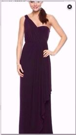 Aubergine Bridesmaid Dresses x 2 - Stunning condition