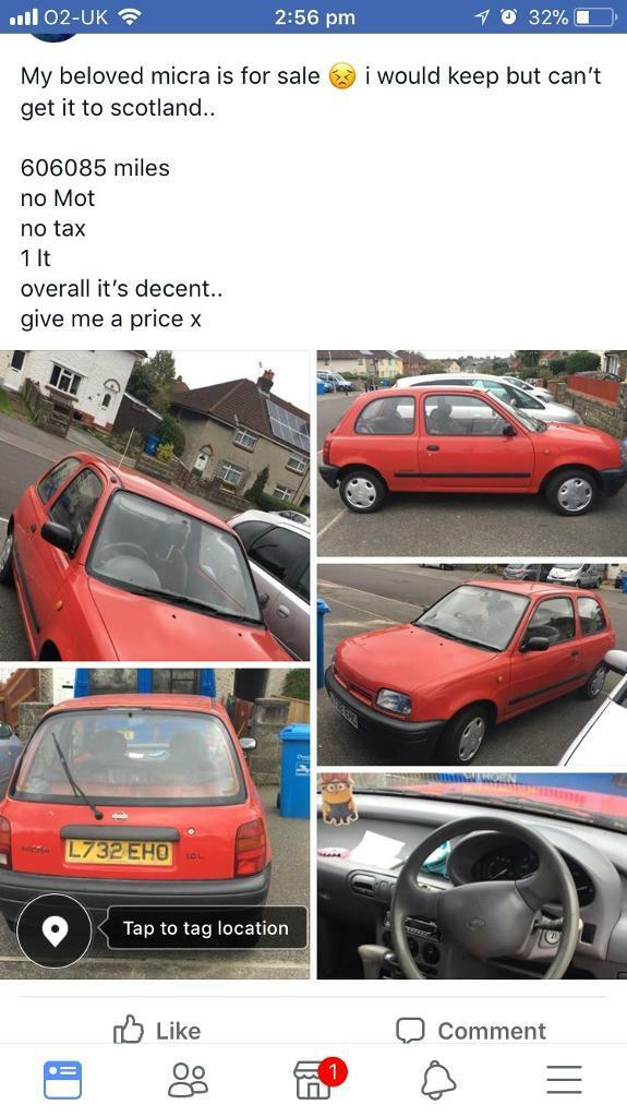nissan micra REDUCED. 200.