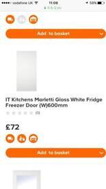 B&Q Marletti gloss white integrated appliance door
