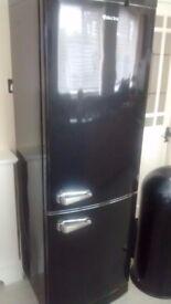 Black retro fridge/freezer