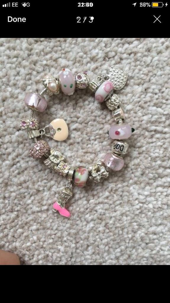 Bracelet and charms brand new