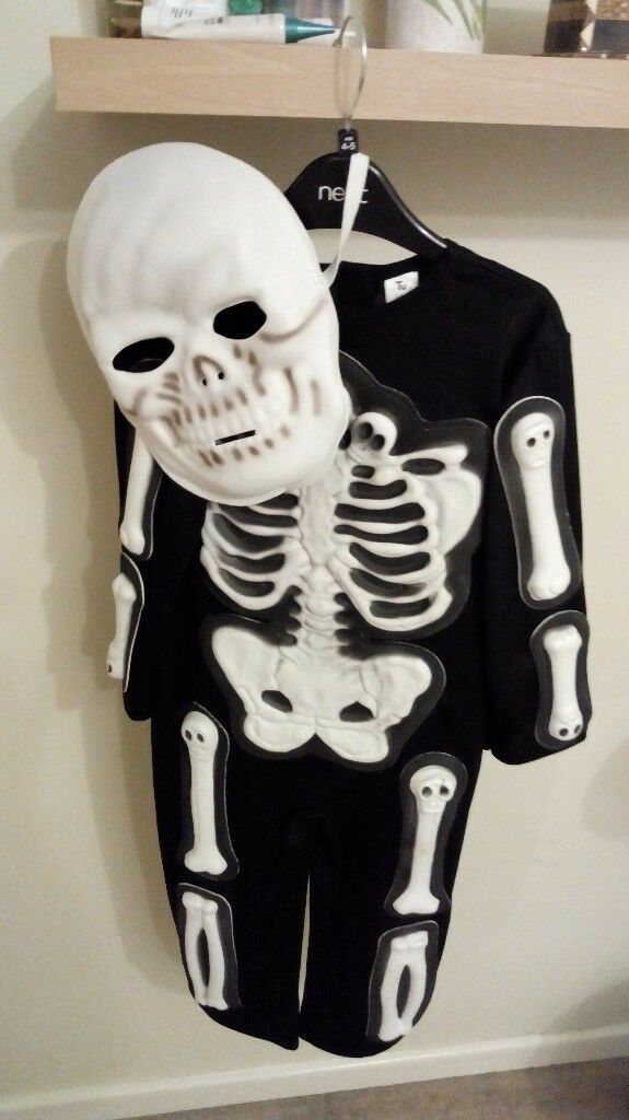 Halloween boys skeleton costume age 3-4