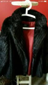 Vintage faux fur coat fits size 10-16