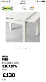 kitchen/Dining table white ikea