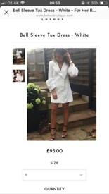 White puff sleeve blazer dress - For her boutique
