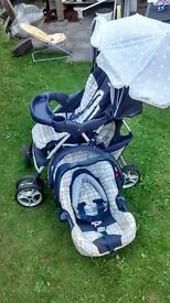 graco foldable buggy with baby carrier and extra freebies