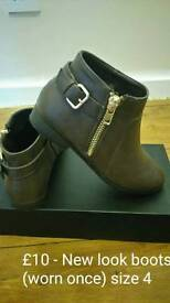 New look boots size 4
