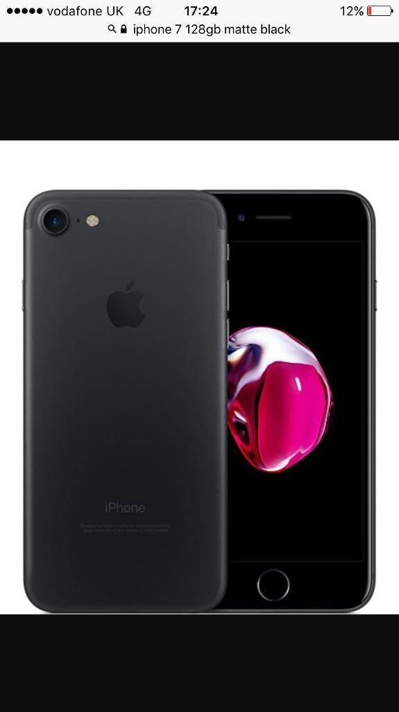 One month old iPhone 7 128GB matte black