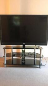 "55"" tv plus huge tv stand with built in shelf"